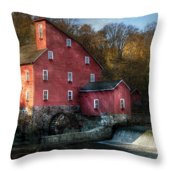 Mill - Clinton Nj - The Old Mill Throw Pillow by Mike Savad