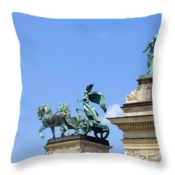 Millennium Monument in Budapest Throw Pillow by Artur Bogacki