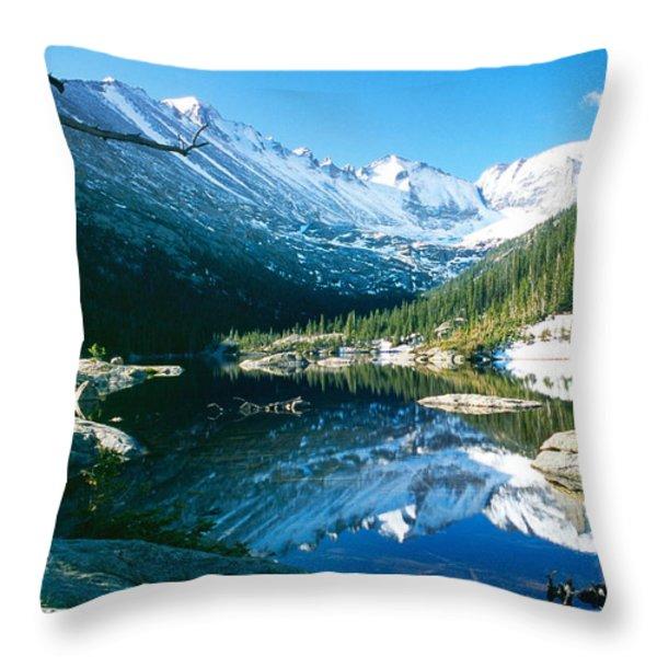 Mills Lake Throw Pillow by Eric Glaser