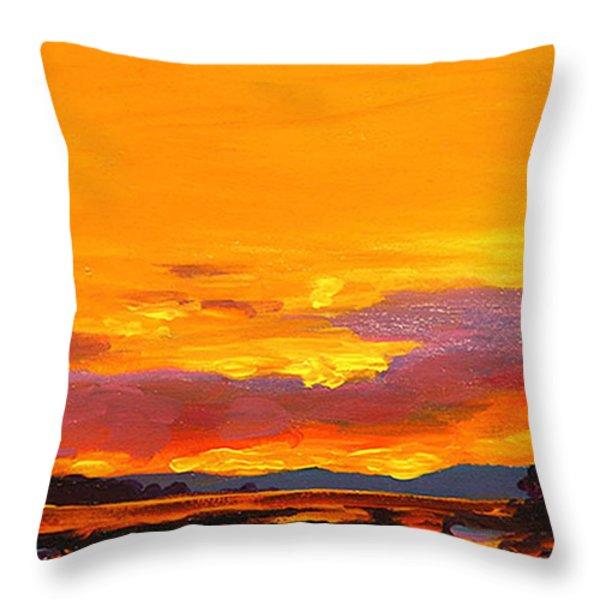 Mimosa Sunrise Throw Pillow by Mike Savlen
