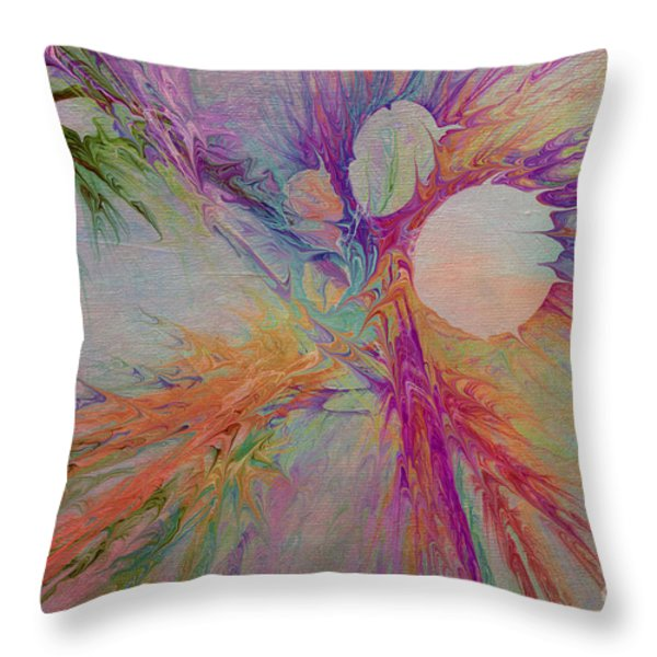 Mind Energy Aura Throw Pillow by Deborah Benoit