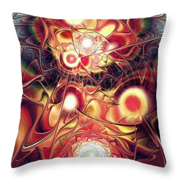 Mind Meld Throw Pillow by Anastasiya Malakhova