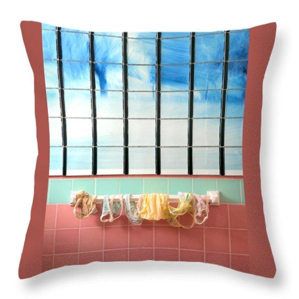 Mini Laundry Throw Pillow by Daniel Furon