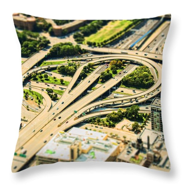 Mini Motorway Throw Pillow by Andrew Paranavitana