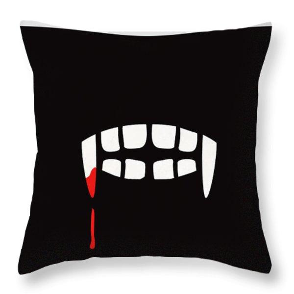 Minimalist Book Cover Bram Stoker Dracula Throw Pillow by Budi Kwan