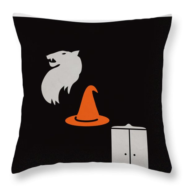 Minimalist book cover the lion the witch and the wardrobe Throw Pillow by Budi Satria Kwan