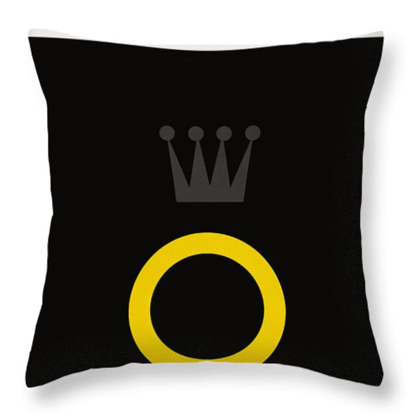 Minimalist book cover the lord of the ring Throw Pillow by Budi Kwan