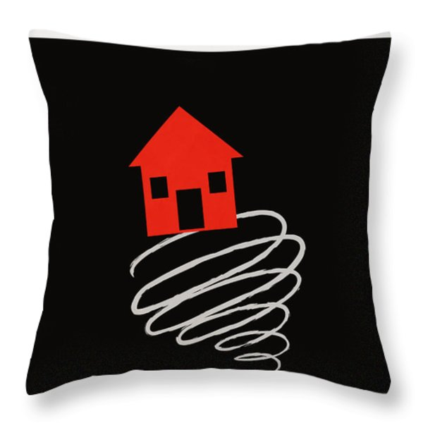 Minimalist book cover the wonderful wizard of oz Throw Pillow by Budi Kwan