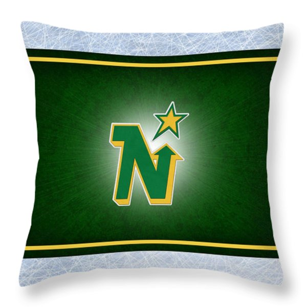 Minnesota North Stars Throw Pillow by Joe Hamilton
