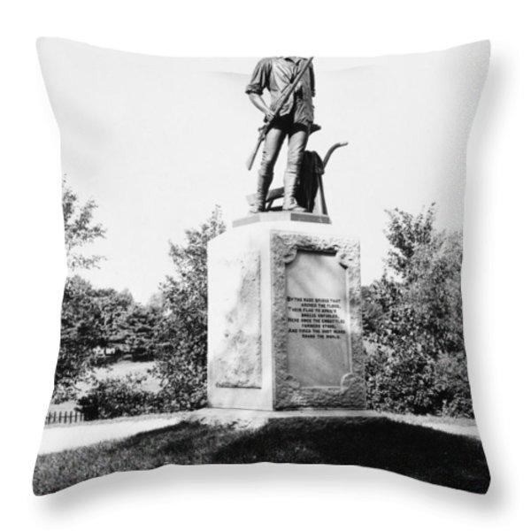Minuteman Statue Throw Pillow by Granger