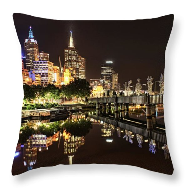 Mirror Image Throw Pillow by Andrew Paranavitana