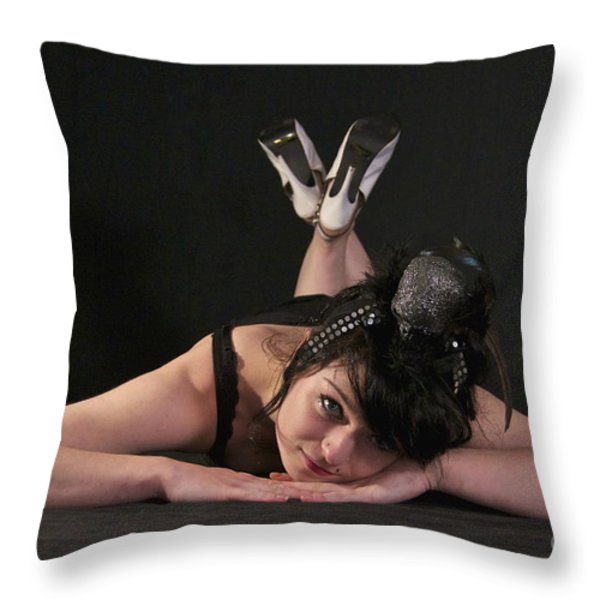Misha In Black 4 Throw Pillow by Sean Griffin