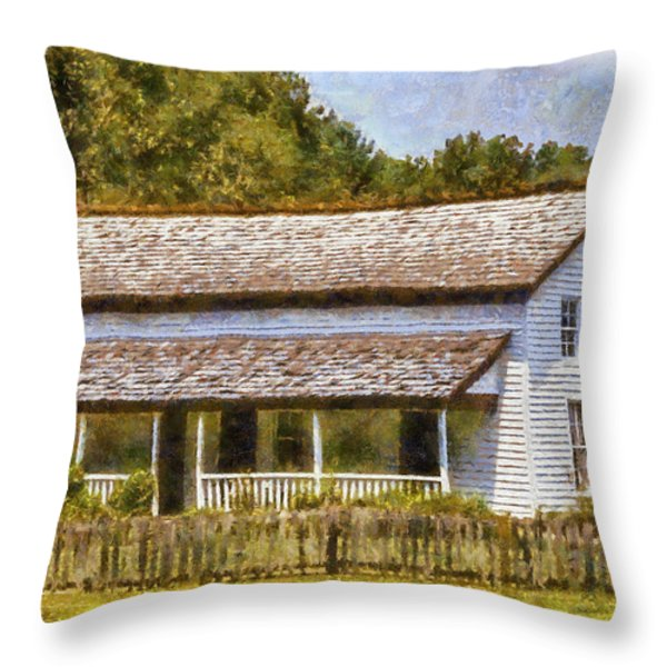 Miss Becky's House Throw Pillow by Barry Jones