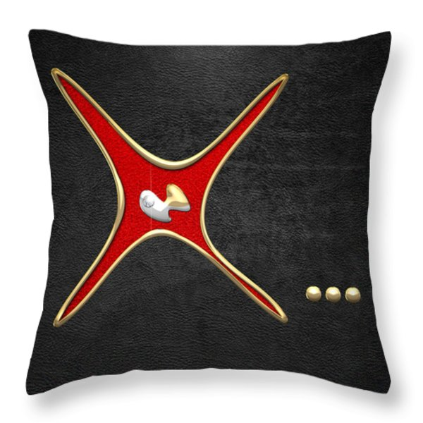Miss X... Throw Pillow by Serge Averbukh