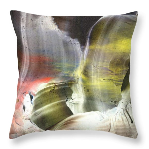Missing Link Outside These Times Throw Pillow by Cristina Handrabur
