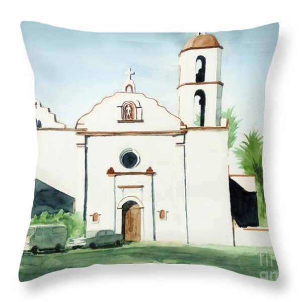 Mission San Luis Rey  Throw Pillow by Kip DeVore