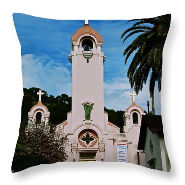Mission San Rafael Throw Pillow by Eric Tressler