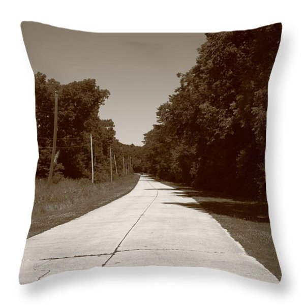 Missouri Route 66 2012 Sepia. Throw Pillow by Frank Romeo