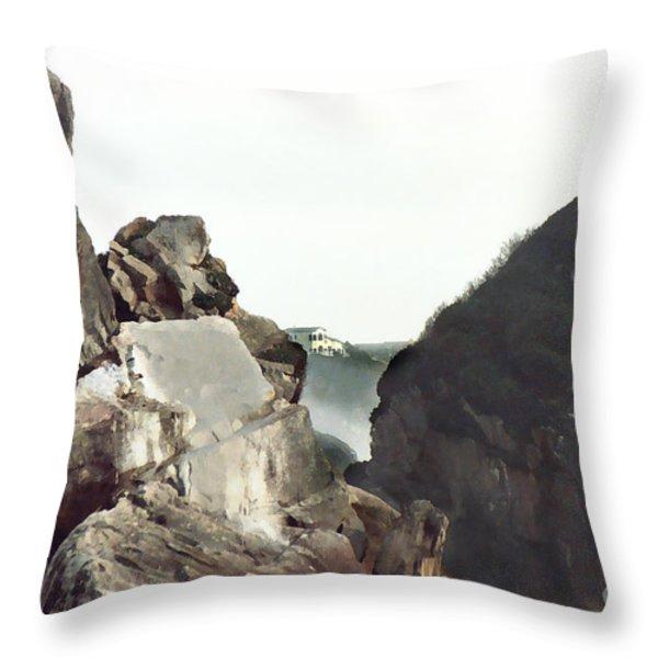 Mist Among The Break Throw Pillow by Peter Piatt