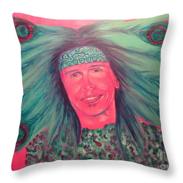 Mister Peacock Throw Pillow by Jeepee Aero
