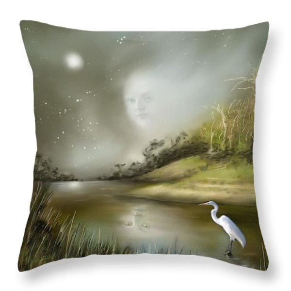 Mistress Of The Glade Throw Pillow by Susi Galloway