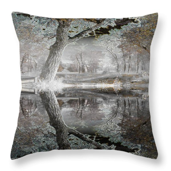 Misty Morn 1 Throw Pillow by Stuart Turnbull