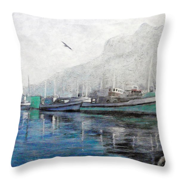 Misty Morning in Hout Bay Throw Pillow by Michael Durst