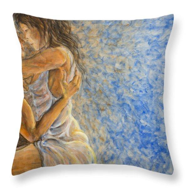 Misty Romance Throw Pillow by Nik Helbig