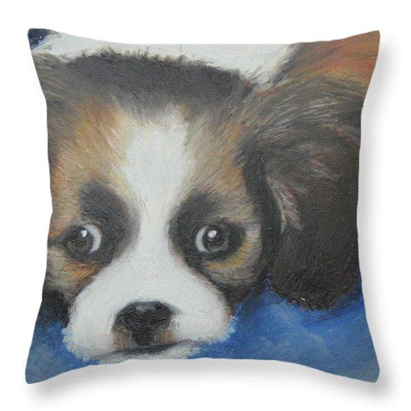 Mitzy Throw Pillow by Jeanne Fischer