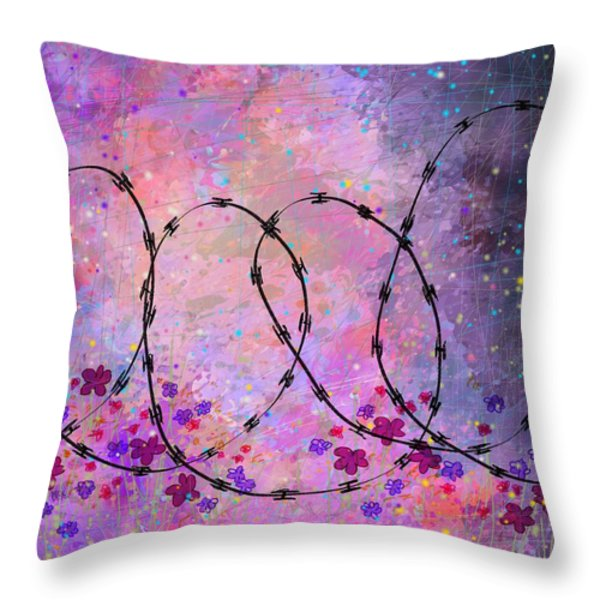 Mixed Messages Throw Pillow by Rachel Christine Nowicki