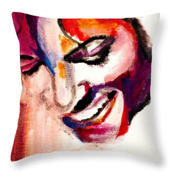 Mj Impression Throw Pillow by Molly Picklesimer