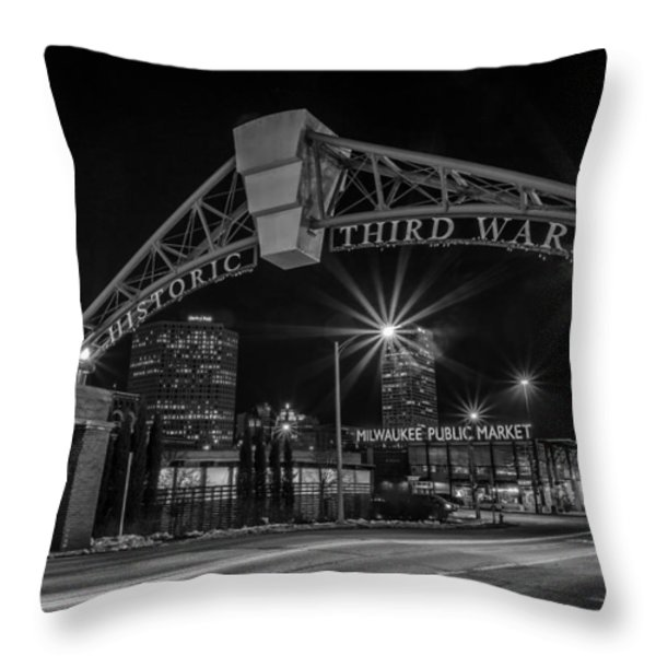 Mke Third Ward Throw Pillow by CJ Schmit