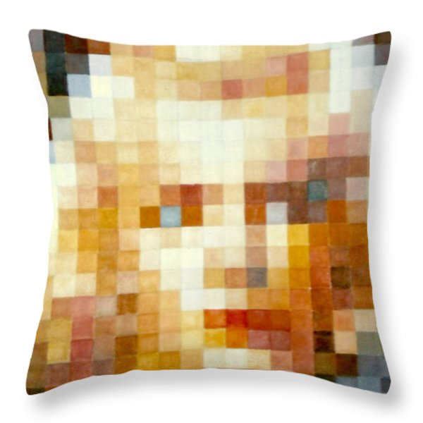 Marylin Throw Pillow by Henryk Gorecki