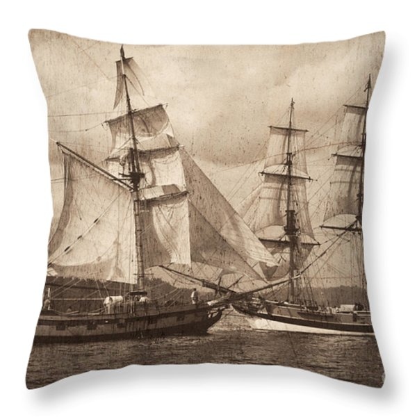 Mock Battle Throw Pillow by Don Hall