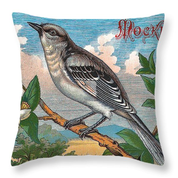 Mocking Bird Throw Pillow by Studio Artist