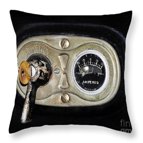 Model T Control Panel Throw Pillow by Al Powell Photography USA