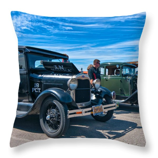 Model T Fords Throw Pillow by Steve Harrington