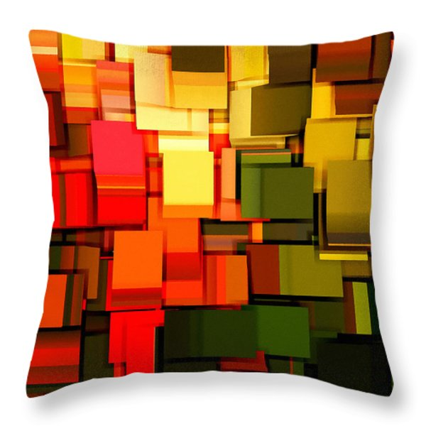 Modern Abstract I Throw Pillow by Lourry Legarde