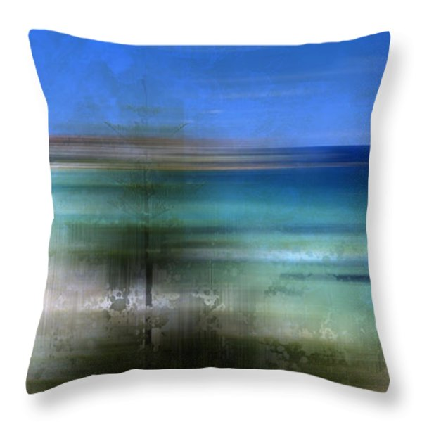 Modern-art Bondi Beach Throw Pillow by Melanie Viola