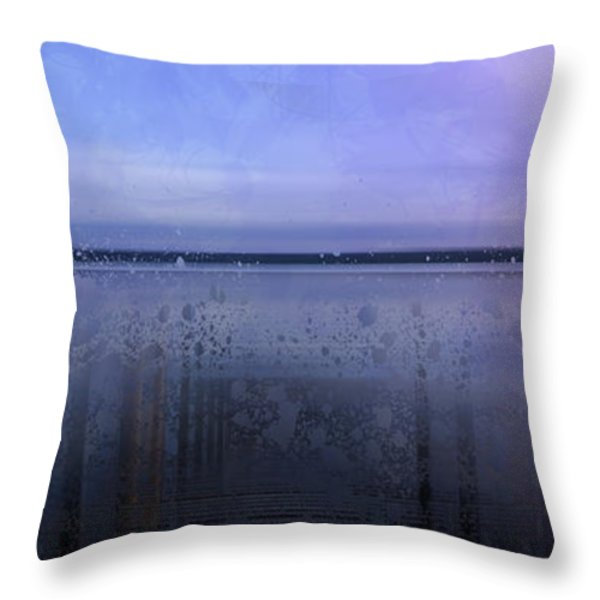 Modern-Art FINLAND Beautiful Nature Throw Pillow by Melanie Viola