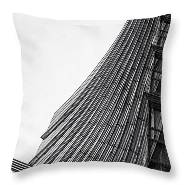 Modern Curves Throw Pillow by Alfio Finocchiaro