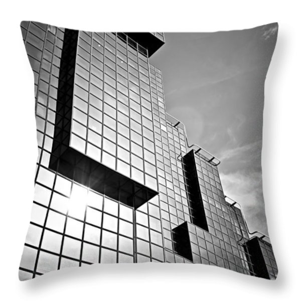 Modern Glass Building Throw Pillow by Elena Elisseeva