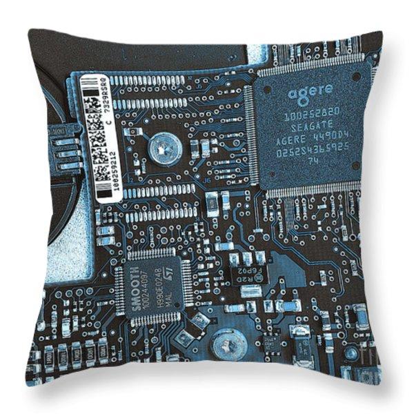 Modern Technology Throw Pillow by Jutta Maria Pusl