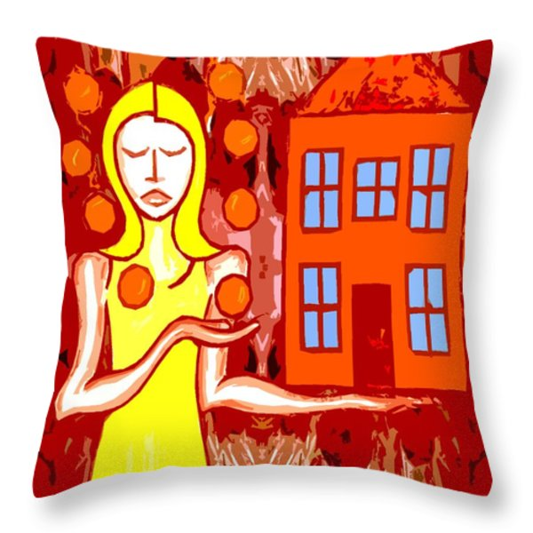 MODERN WOMAN Throw Pillow by Patrick J Murphy