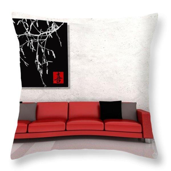 Modern Zen Design Throw Pillow by Andrea Kollo