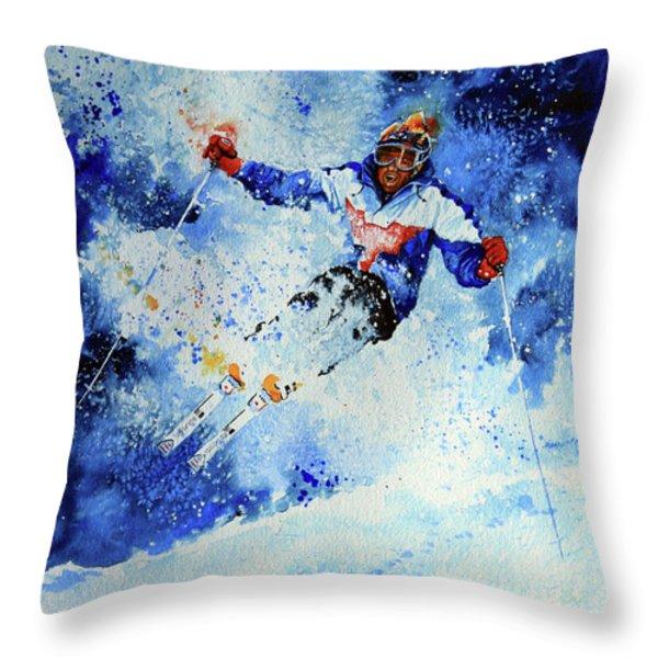 Mogul Mania Throw Pillow by Hanne Lore Koehler