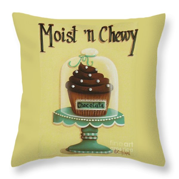Moist 'n Chewy Throw Pillow by Catherine Holman