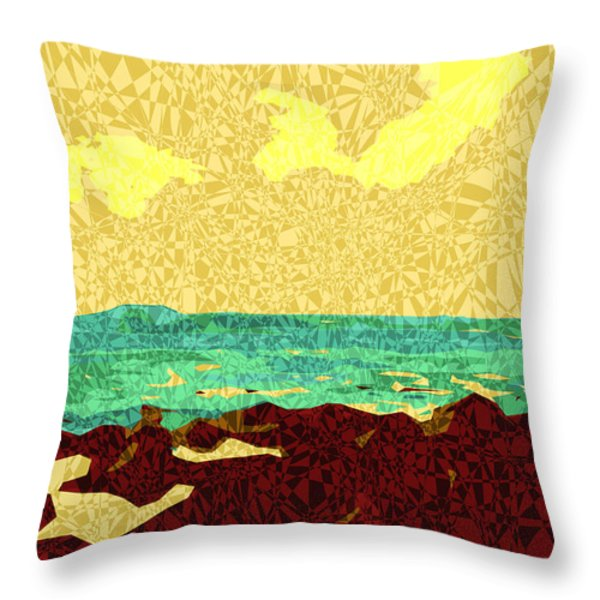 Moku Kapa 9 Throw Pillow by Kenneth Grzesik