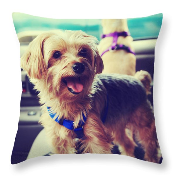 Molly's Road Trip Throw Pillow by Laurie Search
