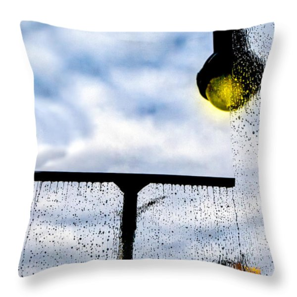 Molly's Window Throw Pillow by Bob Orsillo